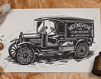 Moonshiner - Block Print