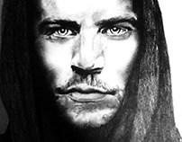 36 Minute Sketch of Paul Walker