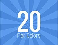Sunburst Backgrounds (Flat Colors) x20