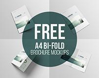 Free A4- Bifold Brochure Mockup
