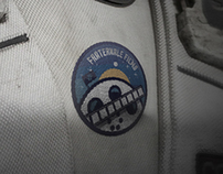 Space-themed Patch Logo for Film Studio