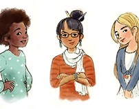 Character sketches - Young girls