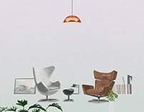 Arne Jacobsen's furniture within my future room
