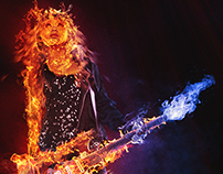Fire Guitarist (Female Band Series)