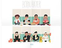 """Epikhigh""""Born Hater"""" poster/Illust"""