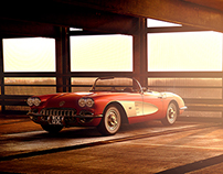 VRED, Corvette C1 Dawn | CGI, Photography, Retouching