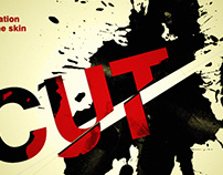 """CUT"" typography"