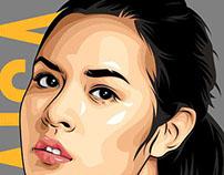 """Raisa"" indonesian Singer"