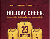 Cavs Team Shop - Christmas Game Jersey Concepts