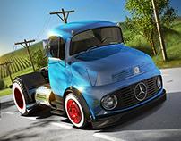 Mercedes Truck - 3D (1113)