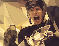 Low Poly Hockey Players