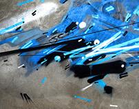 SPRAYCAN EXPERIMENTS - Dynamism on Walls