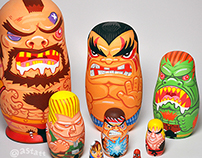 Street Fighter Nesting Dolls