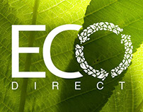 Eco direct logo identity