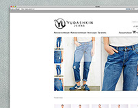Yudashkin Jeans |  view of web site