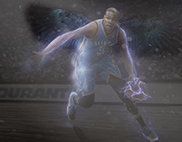 """Kevin Durant as """"The Slim Reaper"""""""