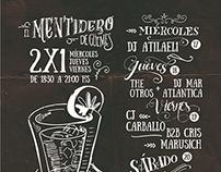 """Flyer """"El Mentidero"""""""