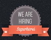 Poster design - hiring now