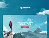 Square2 - Goal Achievement App Homepage