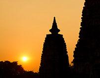 The Mahabodhi Temple of Bodh Gaya, India,