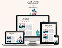 CakeGenie - Wordpress Powered Website