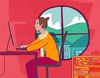 Animated Illustration - Freelance Overwork Article