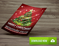 Christmas Party Flyer Template ( Free Download )