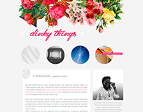 Blog layout | Dinky Things