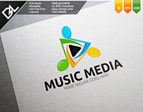 Music Media Logo Template