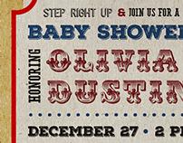 Circus Baby Shower Invite
