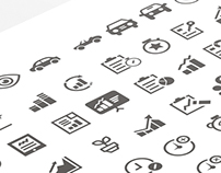 Freebie - 110 Mixed Generic & Custom Wireframe Icons