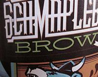 Schmapleberg Brown Ale Label