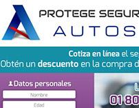 Protege Seguro Autos - Landig Page