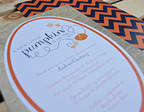 Pumpkin Baby Shower Invites