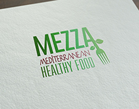 MEZZA MEDITERRANEAN FOOD - IDENTY LOGO - IDENTIDAD CORP