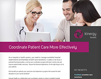 Kinergy Health Factsheet Template