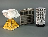 World Landmarks Tissue Boxes