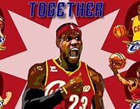 Cleveland Cavaliers - Illustrator/Photoshop