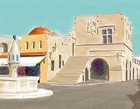 Rhodes İsland,  Oldtown, GREECE