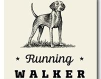 Running Walker Brand Logo Illustrated by Steven Noble