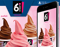6th Street Yogurt website and App Design