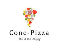 """Логотип міської піцерії """"Cone-Pizza"""""""