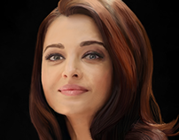 Digital Painting of Aishwarya Rai By Mushir Arts