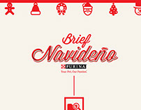 Brief navideño PURINA®