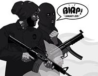 Birp FM January 2015 playlist cover design