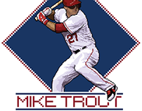 Mike Trout - Pixel Art