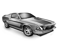 Mustang digital drawing
