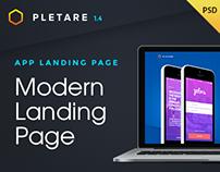 Pletare - Mobile Landing Page Fullscreen PSD