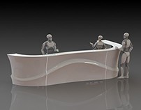 Design of reception desk for InnoTrans