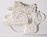 Lettering & impresión 3D